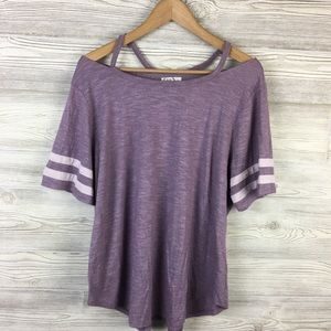 Maurice's   Rugby Sleeve Cold Shoulder T-Shirt
